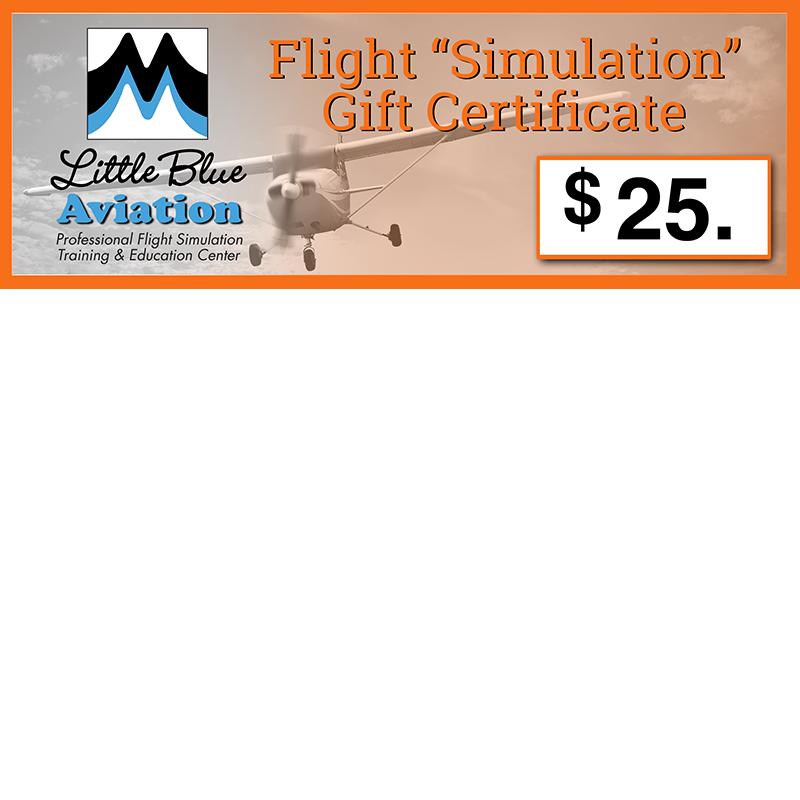 Little blue aviation flight simulation gift certificates negle Choice Image